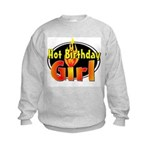 Hot Birthday Girl Kids Sweatshirt