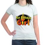 Hot Birthday Girl Jr. Ringer T-Shirt
