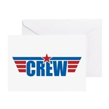 Aviation Crew Wings Greeting Card
