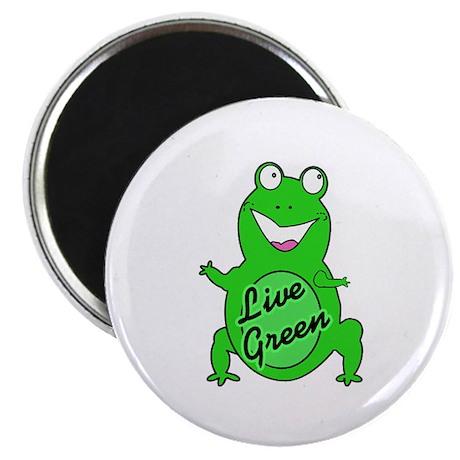 "Live Green Froggie! 2.25"" Magnet (10 pack)"