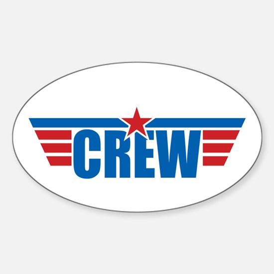 Aviation Crew Wings Sticker (Oval)