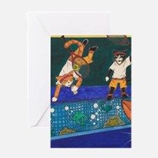 Tennis 2 V 1 Greeting Cards