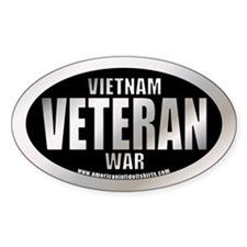 Vietnam War Veteran Oval Decal