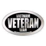 Vietnam War Veteran Oval Sticker
