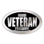 Operation Iraqi Freedom Veteran Oval Sticker