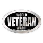 World War II Veteran Oval Sticker