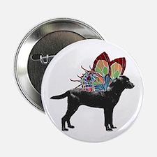 "Butterfly Labrador, Black 2.25"" Button"