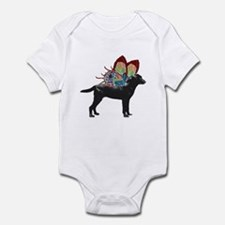 Butterfly Labrador, Black Infant Bodysuit