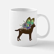 Butterfly Labrador, Chocolate Mug