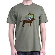 Butterfly Labrador, Chocolate T-Shirt