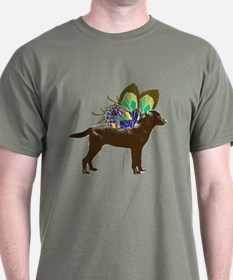 Butterfly Labrador, Chocolate T-Shirt