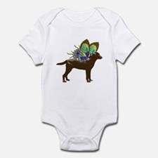 Butterfly Labrador, Chocolate Infant Bodysuit