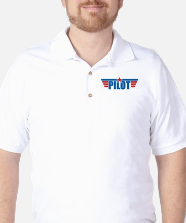 Pilot Aviation Wings Golf Shirt