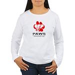 Paws Logo - Women's Long Sleeve T-Shirt
