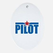 Pilot Aviation Wings Ornament (Oval)