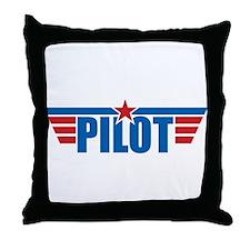 Pilot Aviation Wings Throw Pillow