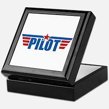 Pilot Aviation Wings Keepsake Box