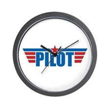Pilot Aviation Wings Wall Clock