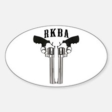 RKBA Back To Back Revolvers Oval Decal