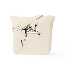 Funny Track field girl Tote Bag