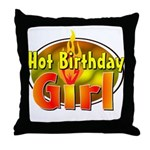 Birthday Girl Throw Pillow