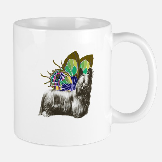 Butterfly Skye Terrier Mug