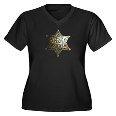 Deputy Game Warden Women's Plus Size V-Neck Dark T