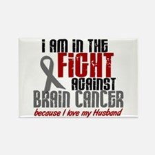 In The Fight HUSBAND Brain Cancer Rectangle Magnet