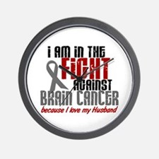 In The Fight HUSBAND Brain Cancer Wall Clock