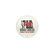 In The Fight HUSBAND Brain Cancer Mini Button (10