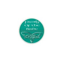 Family Of The Bride Mini Button (10 pack)