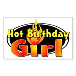 Hot Birthday Girl Rectangle Sticker