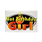 Hot Birthday Girl Rectangle Magnet (100 pack)