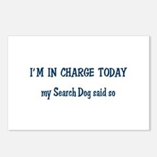 I'n in Charge Search Dog Postcards (Package of 8)