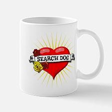Search Dog Heart Mug