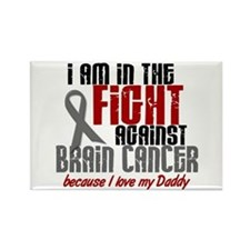 In The Fight DADDY Brain Cancer Rectangle Magnet
