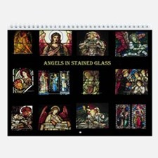 Stained Glass Angels Wall Calendar