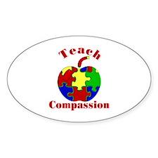 Teach Compassion Oval Decal