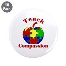 "Teach Compassion 3.5"" Button (10 pack)"