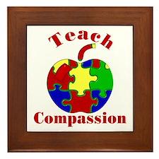 Teach Compassion Framed Tile