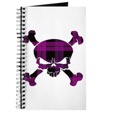 Pink Black Tartan Skull Journal