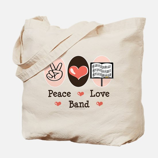 Peace Love Band Tote Bag