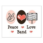 Peace Love Band Small Poster