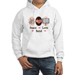 Peace Love Band Hooded Sweatshirt