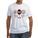 Peace Love Band Fitted T-Shirt