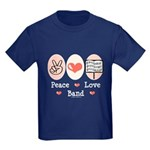 Peace Love Band Kids Dark T-Shirt