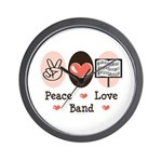 Peace Love Band Wall Clock