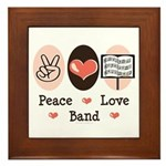 Peace Love Band Framed Tile