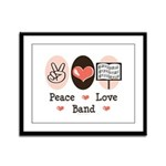 Peace Love Band Framed Panel Print