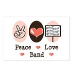 Peace Love Band Postcards (Package of 8)